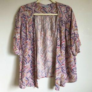 World Market Short Kimono Shrug Batwing Sleeves